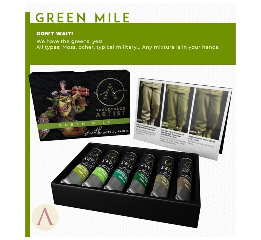 Green Mile Scalecolor Artist - 6 kleuren - 20 ml - SSAR-07