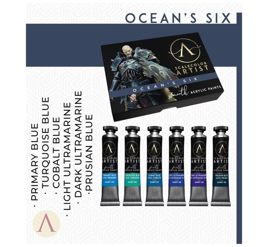 Ocean's Six Artist kleuren - 6 kleuren - 20ml - SSAR-06