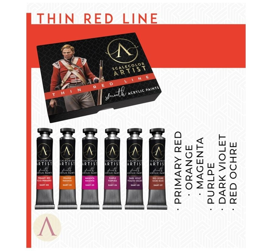 Thin Red Line Artist kleuren - 6 kleuren - 20ml - SSAR-05