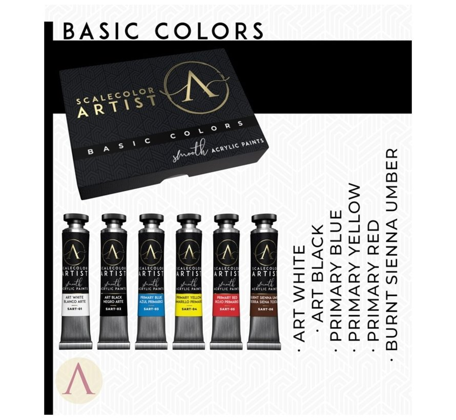Basic Colors Scalecolor Artist - 6 kleuren - 20ml - SSAR-01