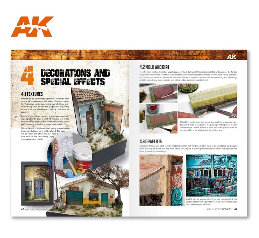 Guide To Make Buildings In Dioramas - AK Learning Series nr 9 - English - 88pag - AK-256