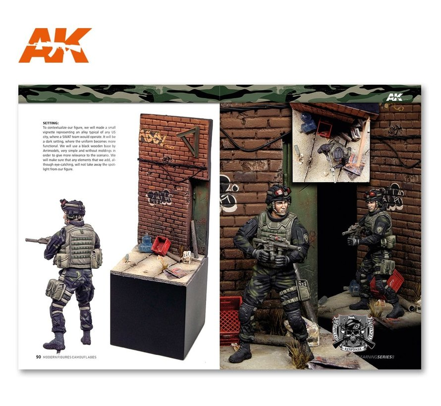 Modern Figures Camouflages - AK Learning Series nr 8 - Engels - 92pag - AK-247