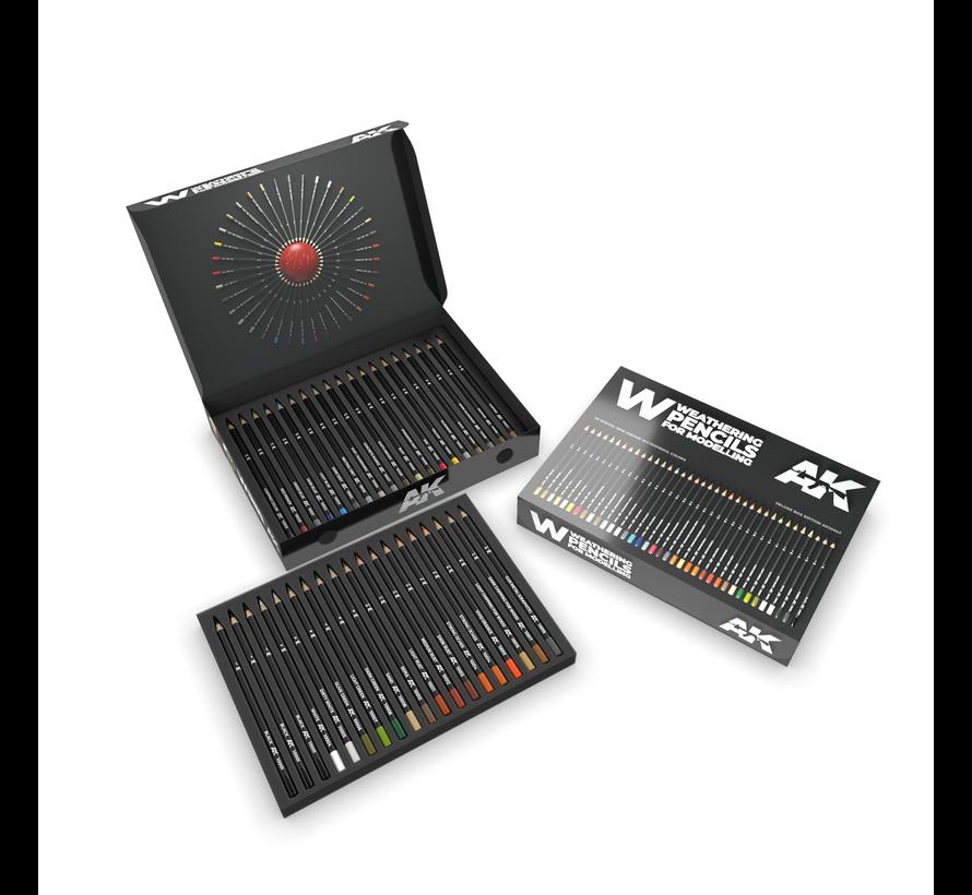 Weathering Pencils Deluxe Edition-doos - 37x - AK10047