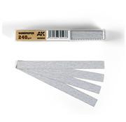 AK interactive Dry Sandpaper 240 grit strips - 11x1cm - 50x - AK9022