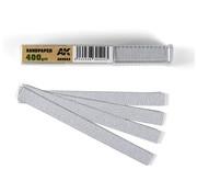 AK interactive Dry Sandpaper 400 grit strips - 11x1cm - 50x - AK9023