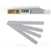 AK interactive Dry Sandpaper 600 grit strips - 11x1cm - 50x - AK9024