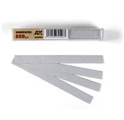 AK interactive Dry Sandpaper 800 grit strips - 11x1cm - 50x - AK9025