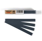 AK interactive Wet Sandpaper 1000 grit strips - 11x1cm - 50x - AK9026
