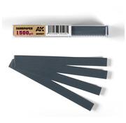 AK interactive Wet Sandpaper 1500 grit strips - 11x1cm - 50x - AK9027