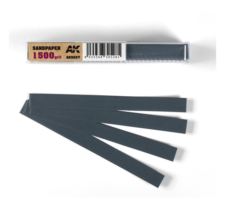 Wet Sandpaper 1500 grit strips - 11x1cm - 50x - AK9027