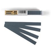 AK interactive Wet Sandpaper 2000 grit strips - 11x1cm - 50x - AK9028