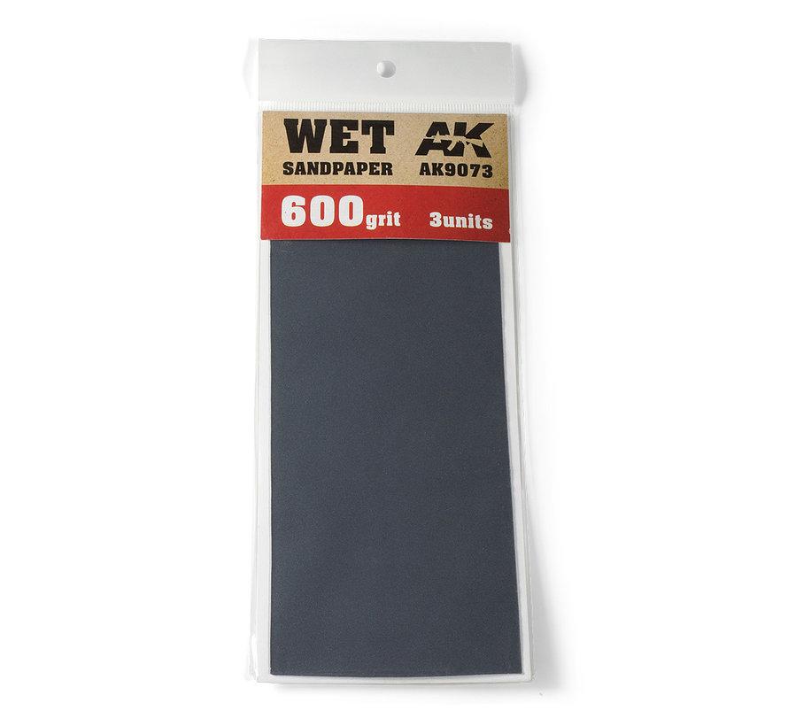 Wet Sandpaper 600 grit - 3x - AK9073