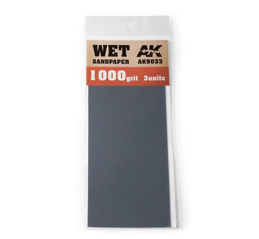 Wet Sandpaper 1000 grit - 3x - AK9033