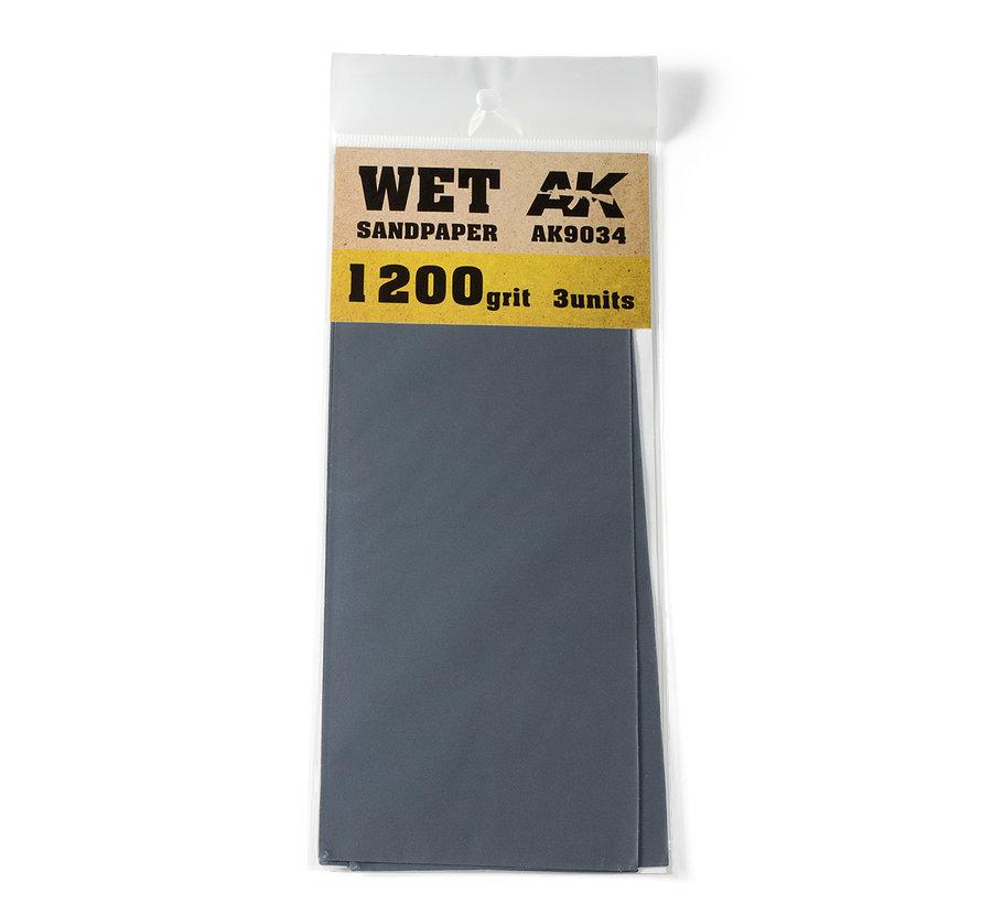 Wet Sandpaper 1200 grit - 3x - AK9034