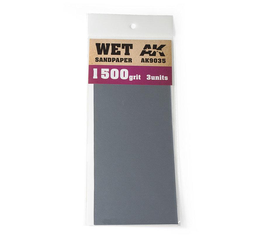 Wet Sandpaper 1500 grit - 3x - AK9035