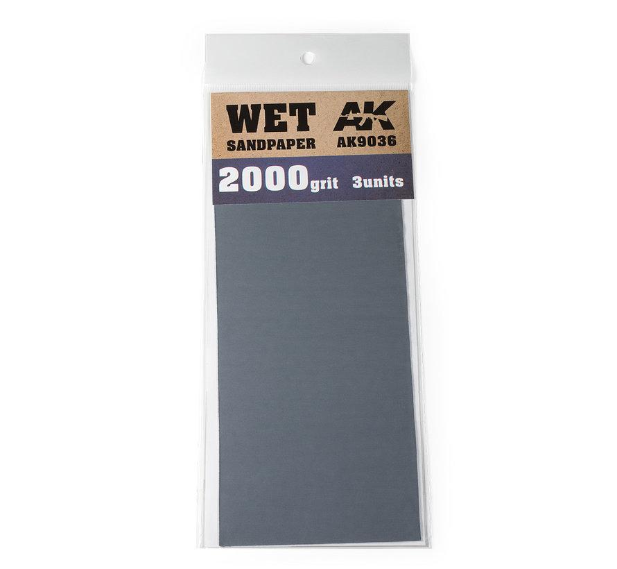 Wet Sandpaper 2000 grit - 3x - AK9036