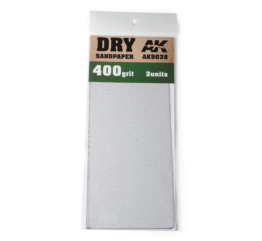 Dry Sandpaper 400 grit - 3x - AK9038