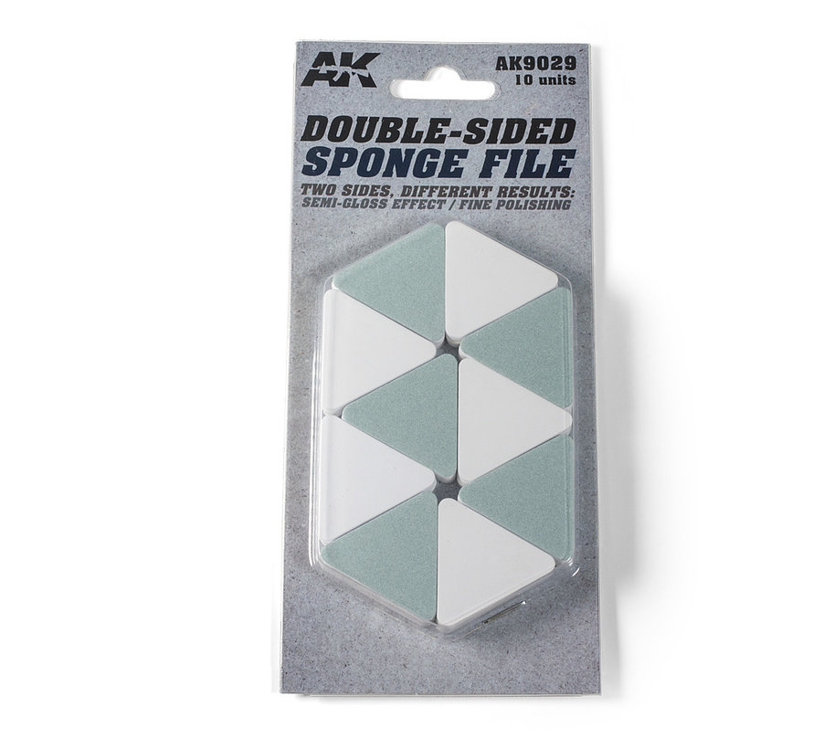 Double-Sided Sponge File -10x - AK9029