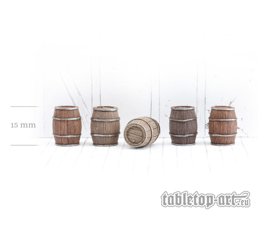 Wooden Barrels Set 2 - Medium Barrels - 5x - TTA601090