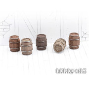 Tabletop-Art Wooden Barrels Set 2 - Medium Barrels - 5x - TTA601090