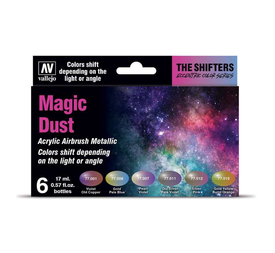 The Shifters set Magic Dust - 6 kleuren - 17 ml - 77090