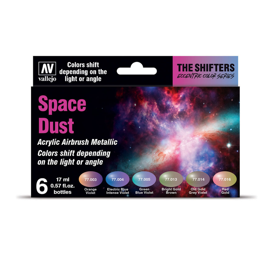 The Shifters set Space Dust - 6 kleuren - 17 ml - 77091