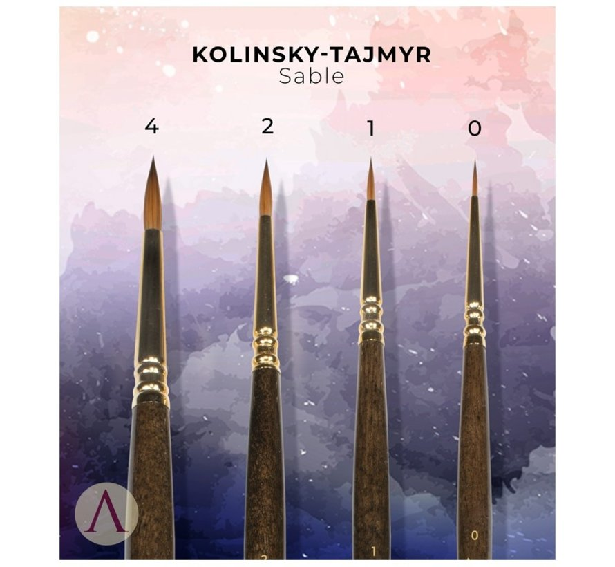 Miniatures Luxury Kolinsky Tajmyr Sable Penselen - 4x - SBR-03