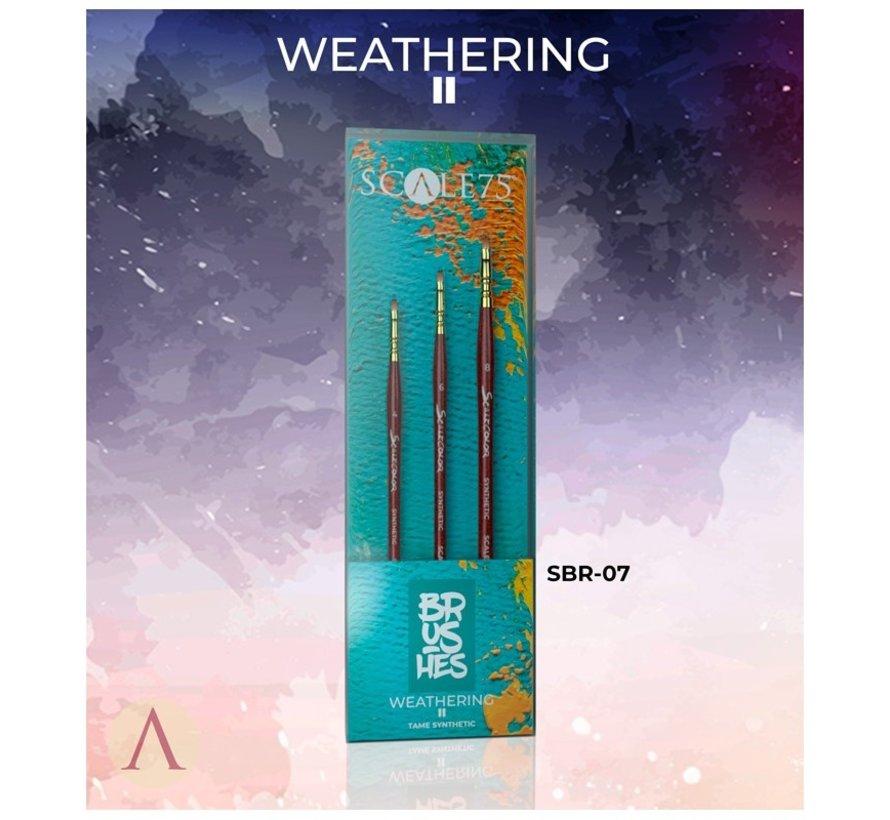 Weathering II penselen - 3x - SBR-07