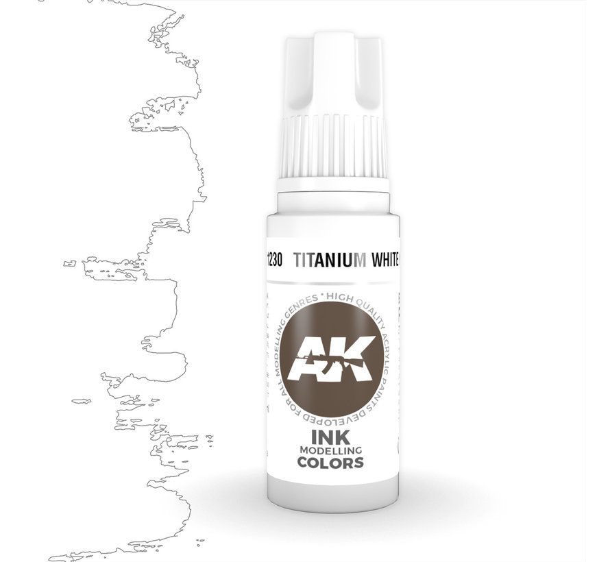 Titanium White Ink Ink Modelling Colors - 17ml - AK11230