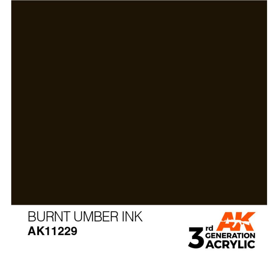 Burnt Umber Ink Ink Modelling Colors - 17ml - AK11229