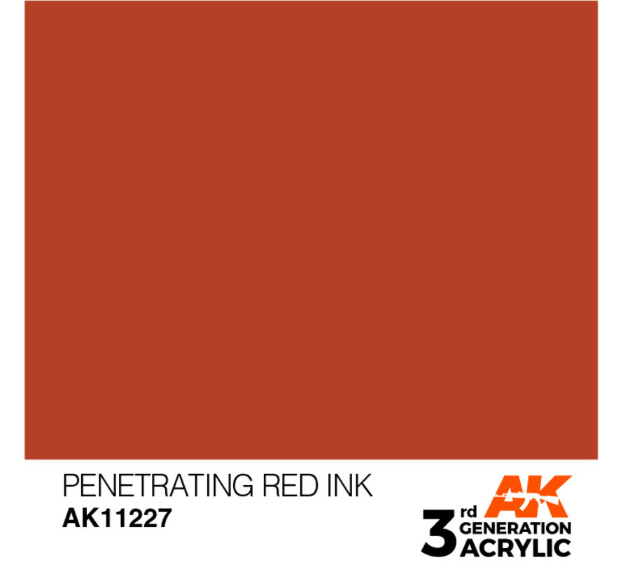 Penetrating Red Ink Ink Modelling Colors - 17ml - AK11227