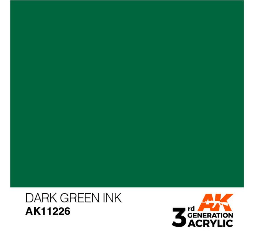 Dark Green Ink Ink Modelling Colors - 17ml - AK11226