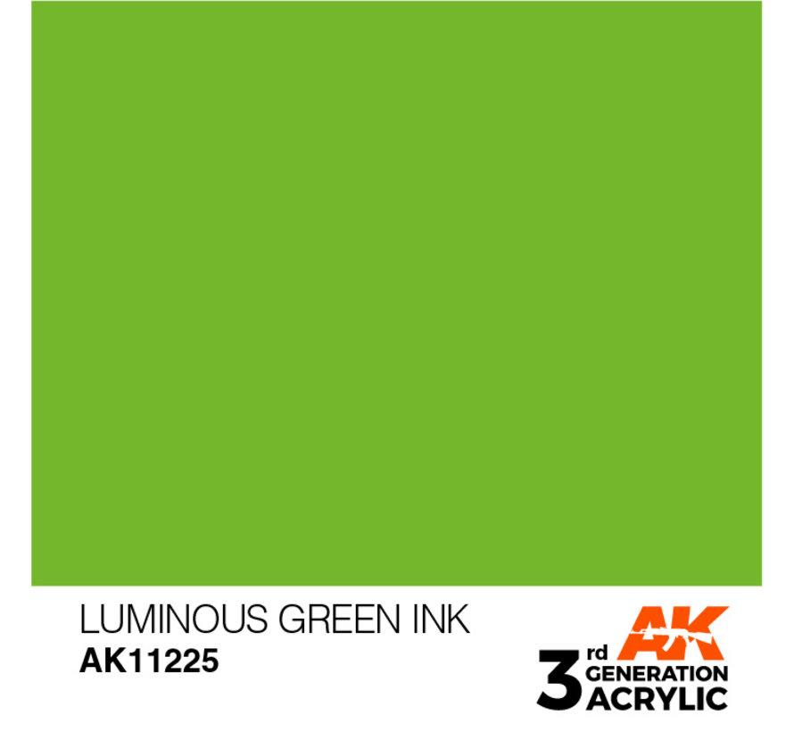 Luminous Green Ink Ink Modelling Colors - 17ml - AK11225
