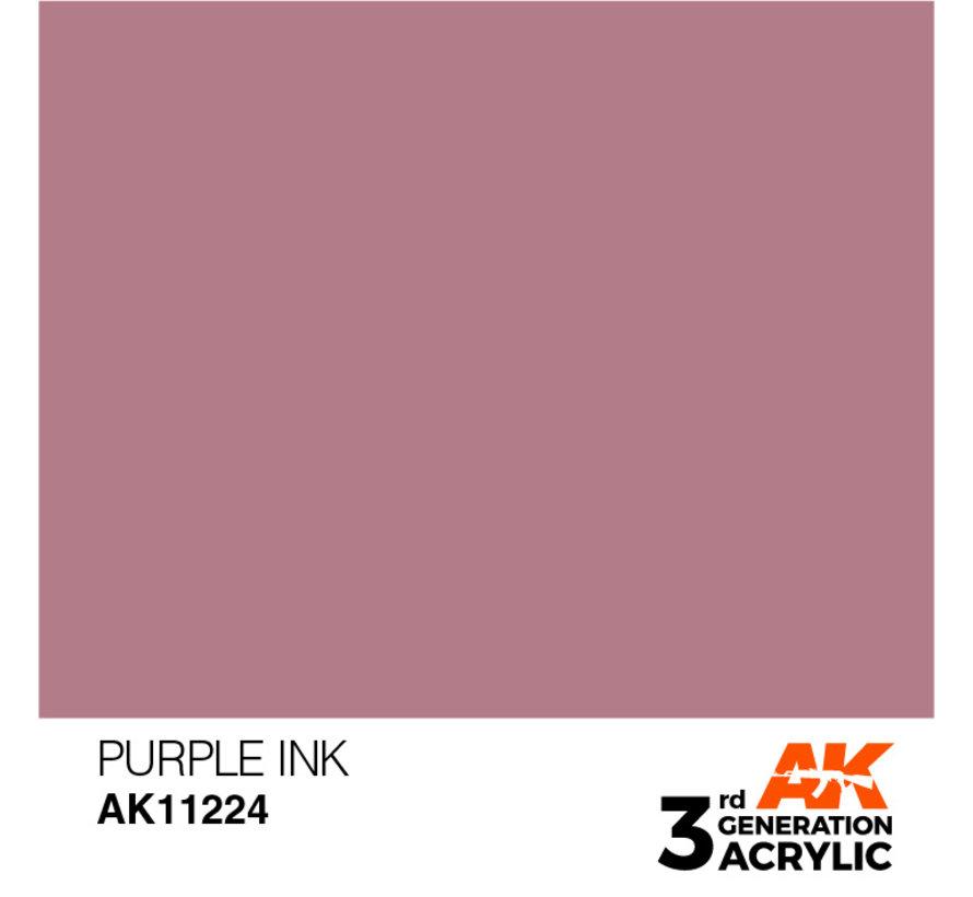 Purple Ink Ink Modelling Colors - 17ml - AK11224