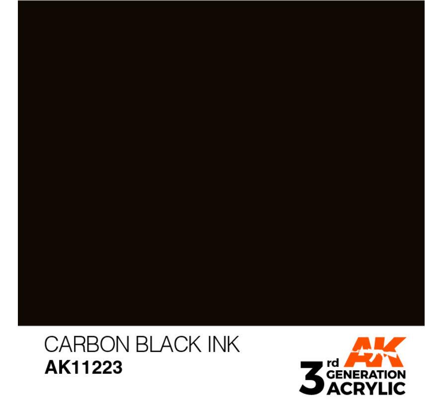 Carbon Black Ink Ink Modelling Colors - 17ml - AK11223