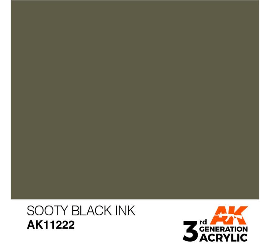 Sooty Black Ink Ink Modelling Colors - 17ml - AK11222