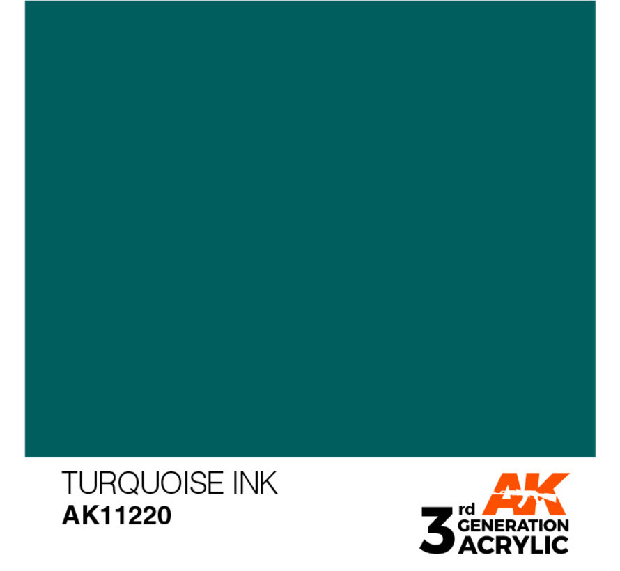 Turquoise Ink Ink Modelling Colors - 17ml - AK11220
