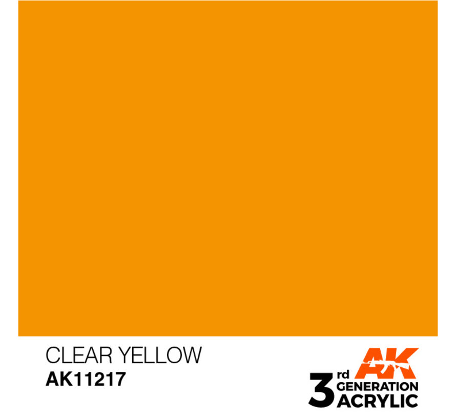 Clear Yellow Acrylic Modelling Colors - 17ml - AK11217
