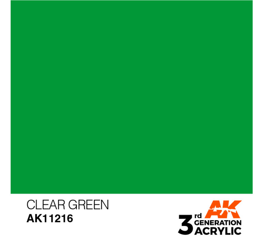 Clear Green Acrylic Modelling Colors - 17ml - AK11216