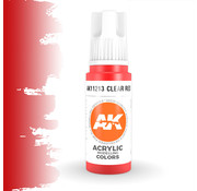 AK interactive Clear Red Acrylic Modelling Colors - 17ml - AK11213