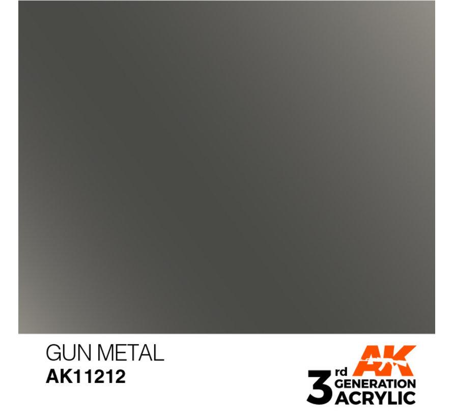 Gun Metal Metallic Modelling Colors - 17ml - AK11212