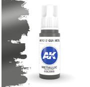 AK interactive Gun Metal Metallic Modelling Colors - 17ml - AK11212