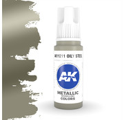 AK interactive Oily Steel Metallic Modelling Colors - 17ml - AK11211
