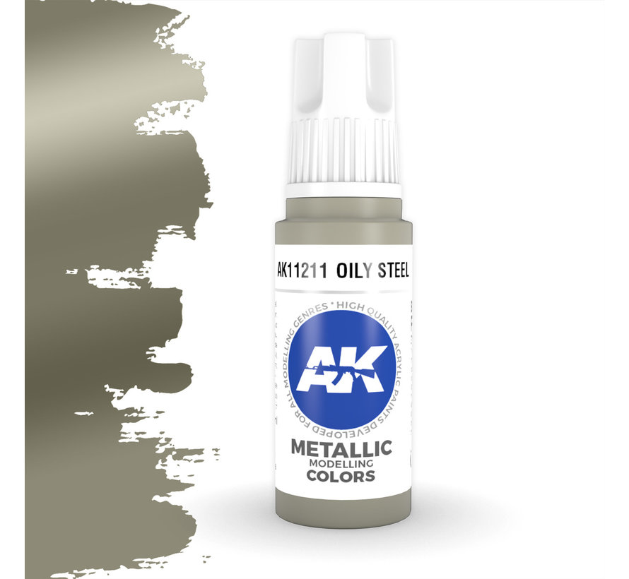Oily Steel Metallic Modelling Colors - 17ml - AK11211