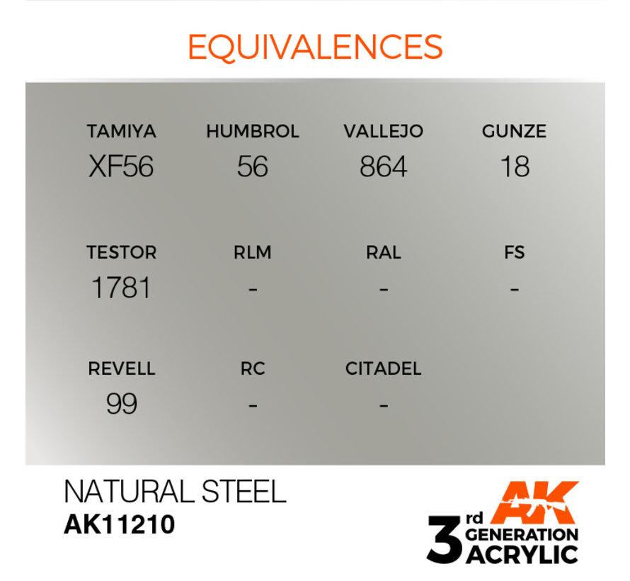 Natural Steel Metallic Modelling Colors - 17ml - AK11210