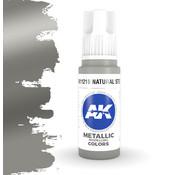 AK interactive Natural Steel Metallic Modelling Colors - 17ml - AK11210