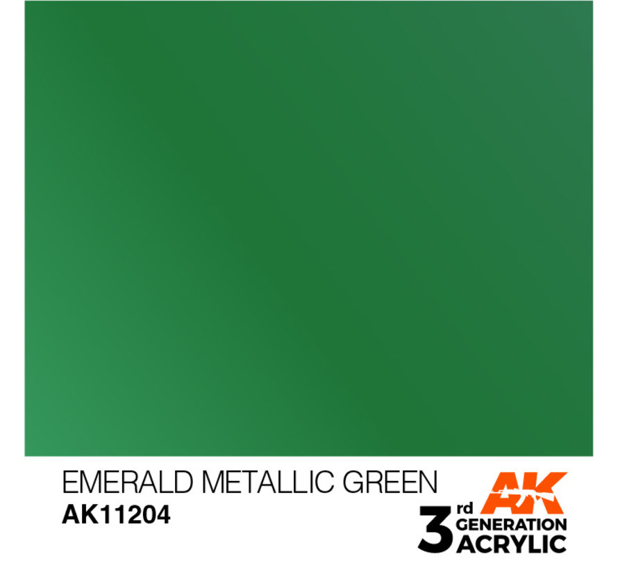 Emerald Metallic Green Metallic Modelling Colors - 17ml - AK11204