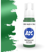 AK interactive Emerald Metallic Green Metallic Modelling Colors - 17ml - AK11204