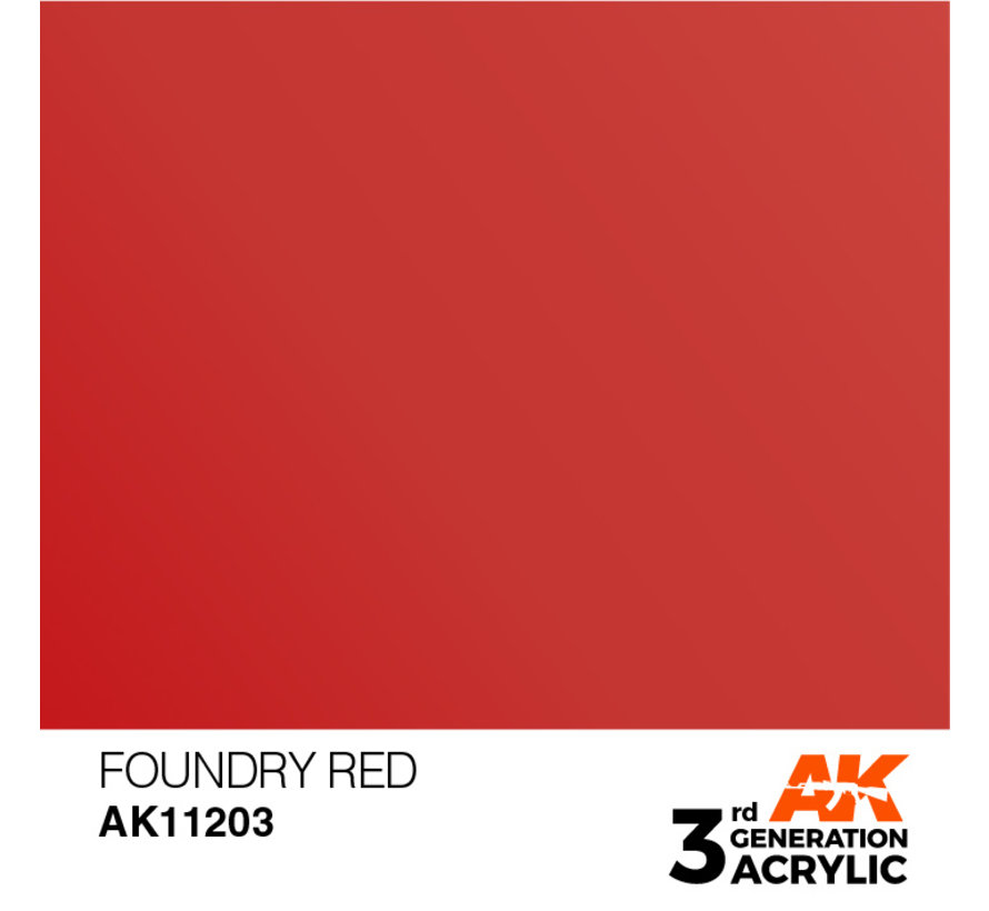 Foundry Red Metallic Modelling Colors - 17ml - AK11203