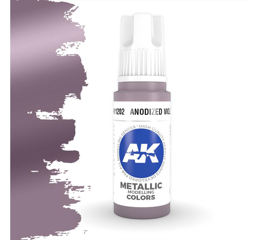 Anodized Violet Metallic Modelling Colors - 17ml - AK11202